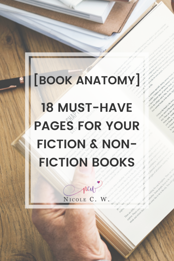 Book Anatomy] 18 Must-Have Pages For Your Fiction & Non