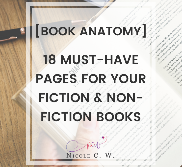 [Book Anatomy] 18 Must-Have Pages For Your Fiction & Non-Fiction Books