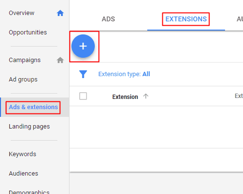 Google AdWords New Interface - Location Extension