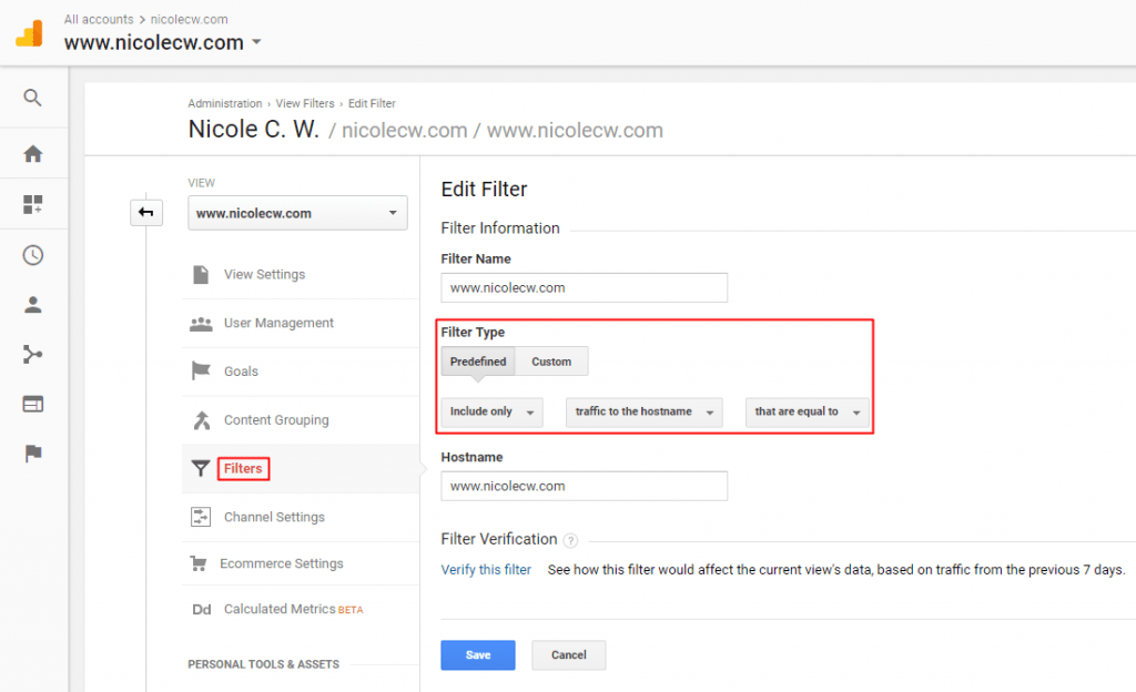 Google Analytics - View Filter Subdomain