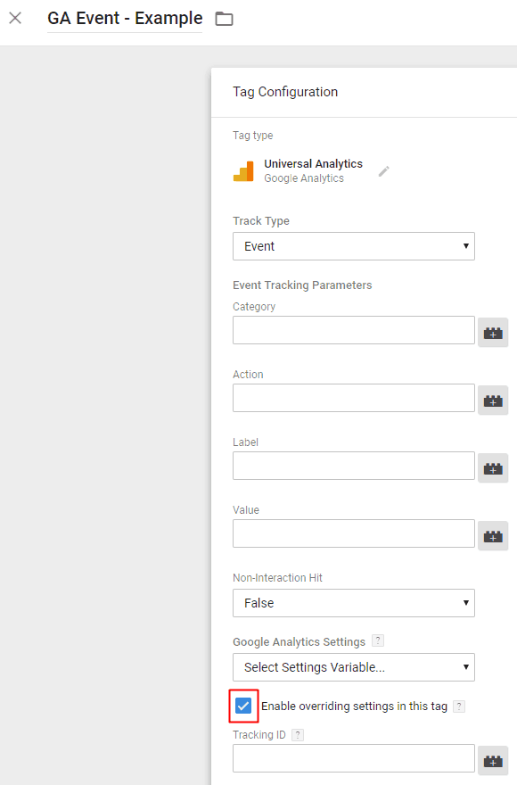Google Tag Manager - Google Analytics Event Tag