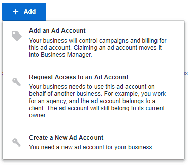 Facebook - Business Manager - Add Ad Account