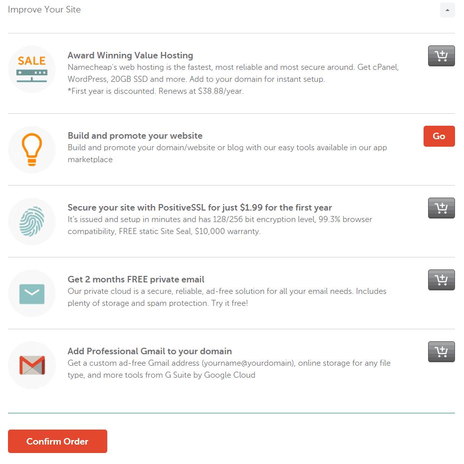 Namecheap - Domain Registration Add-Ons