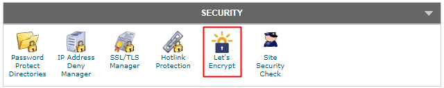 SiteGround - cPanel Security Let's Encrypt
