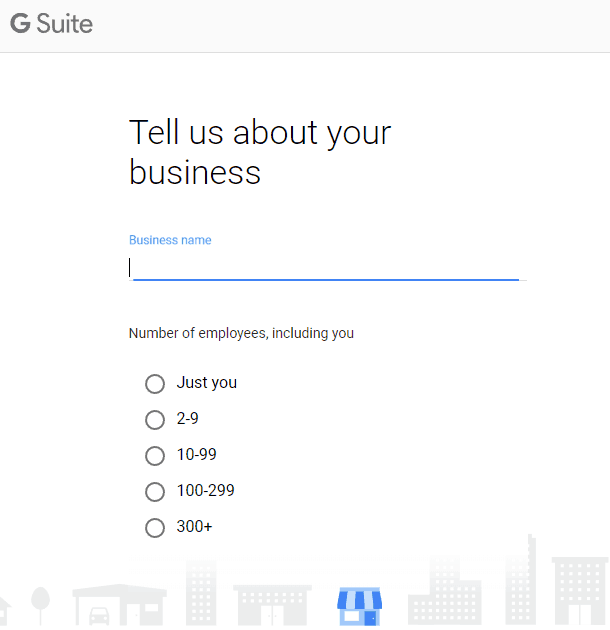 G Suite - Sign Up