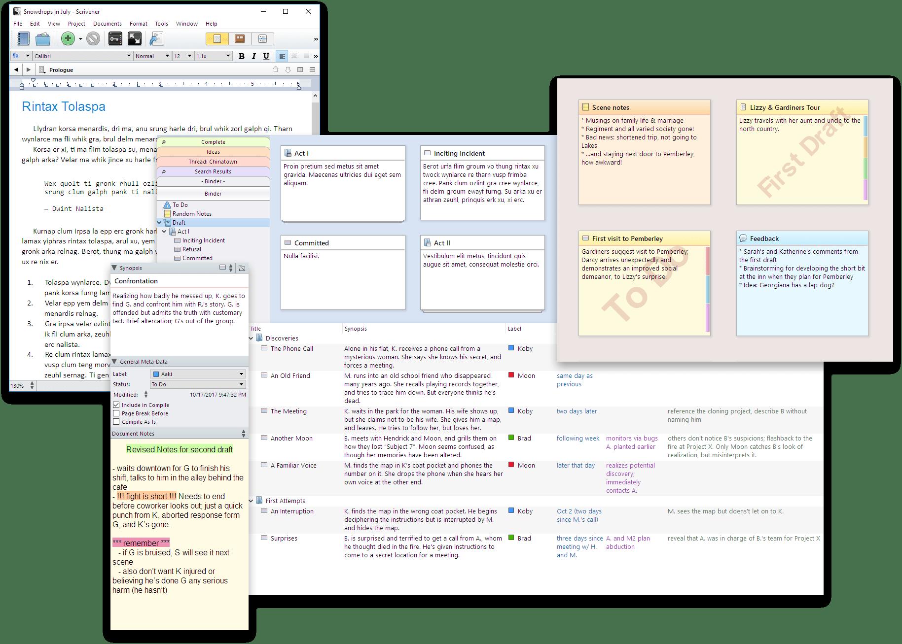 Scrivener - Features