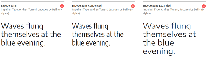 Condensed Expanded - Encode Sans