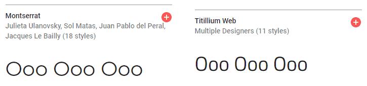 Montserrat vs Titillium Web - Round vs Squarish Font