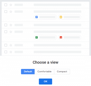 New Gmail - Display Density