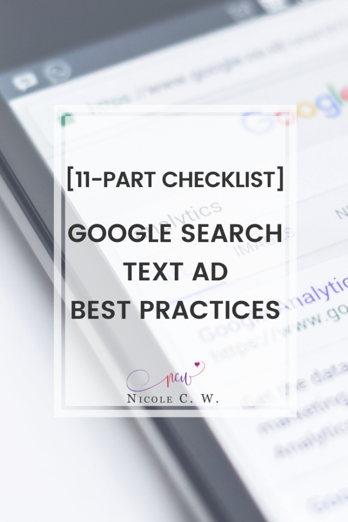 [Marketing Tips] 11-Part Checklist] Google Search Text Ad Best Practices