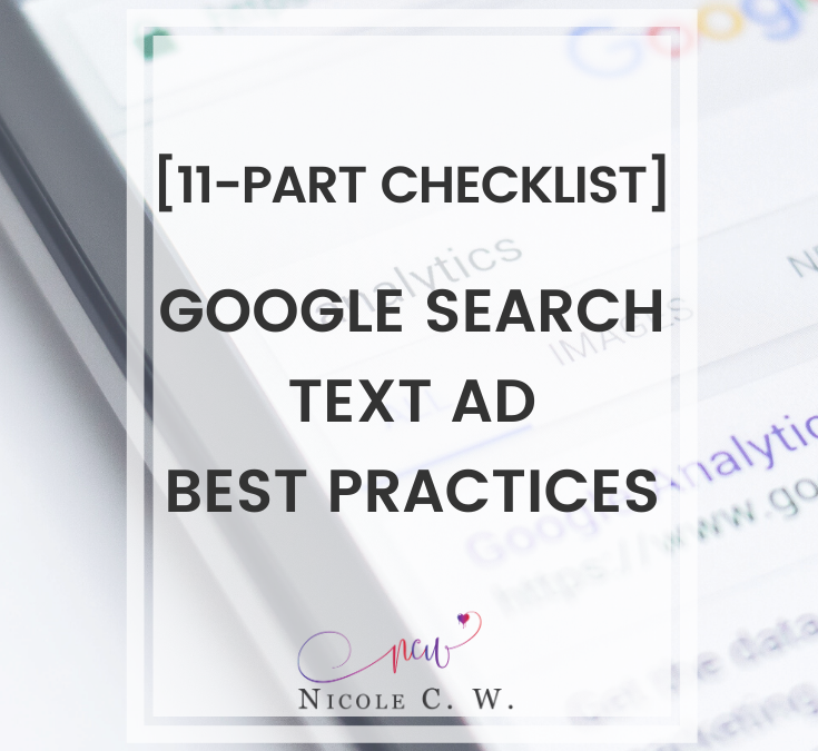 [11-Part Checklist] Google Search Text Ad Best Practices