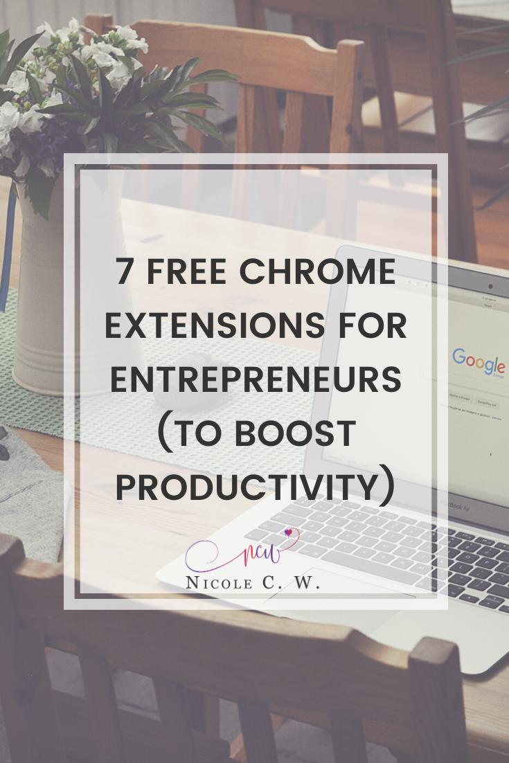 [Entrepreneurship Tips] 7 Free Chrome Extensions For Entrepreneurs (To Boost Productivity)