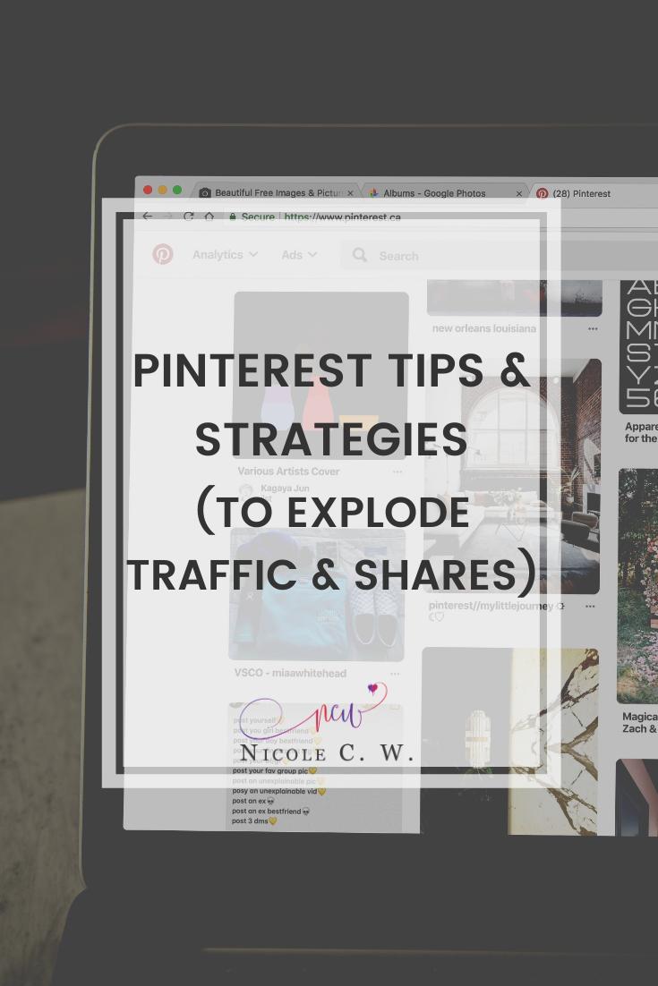 [Marketing Tips] Pinterest Tips & Strategies (To Explode Traffic & Shares)