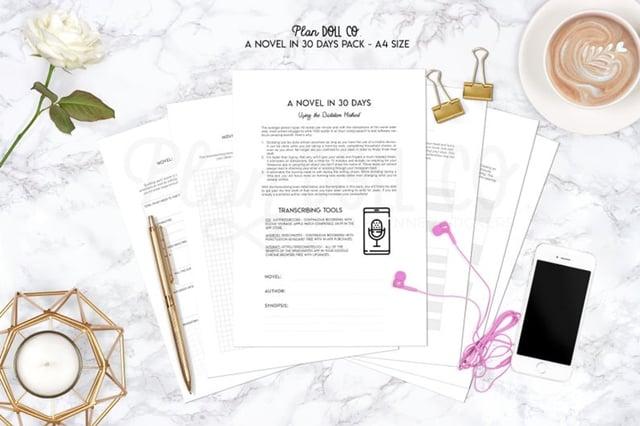 Etsy - Novel Planning Printable Worksheet