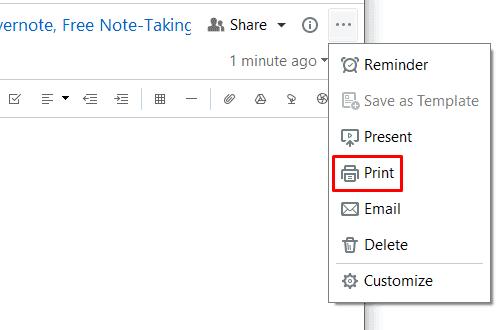 Evernote - Print