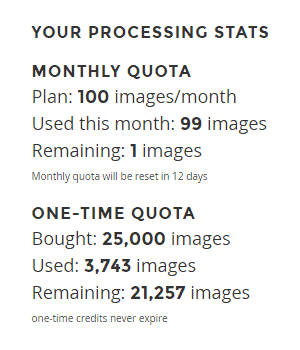 ShortPixel - Quota Monthly One-Time