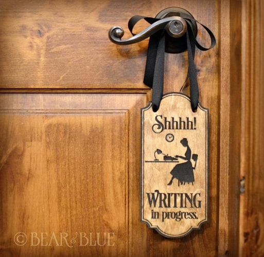 Etsy - Writing Door Sign Hanger