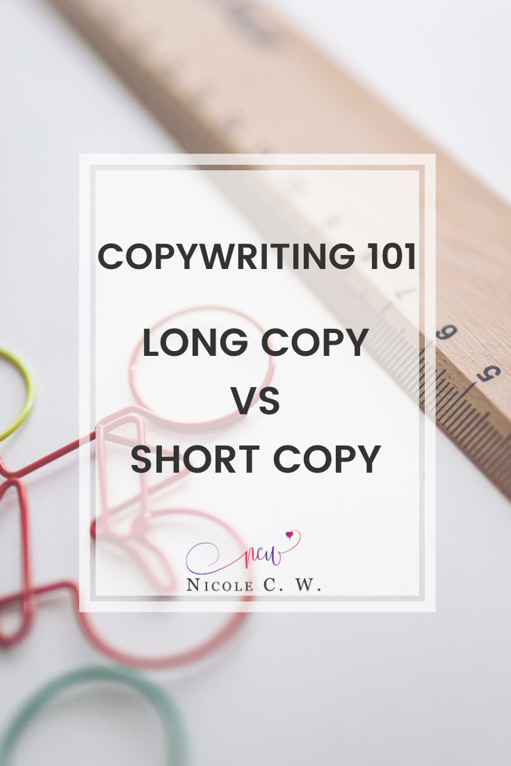[Marketing Tips] Copywriting 101 - Long Copy vs Short Copy