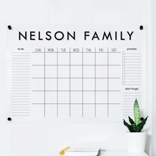 Etsy - Acrylic Wall Calendar