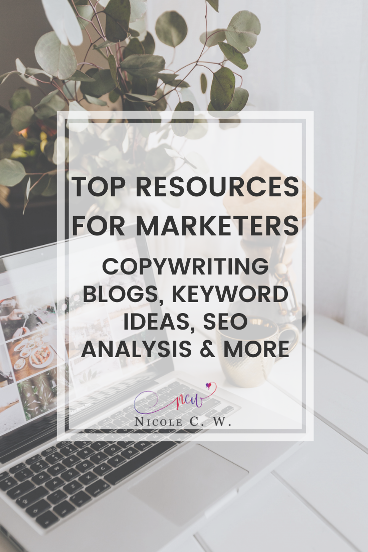 [Marketing Tips] Top Resources For Marketers - Copywriting Blogs, Keyword Ideas, SEO Analysis & More