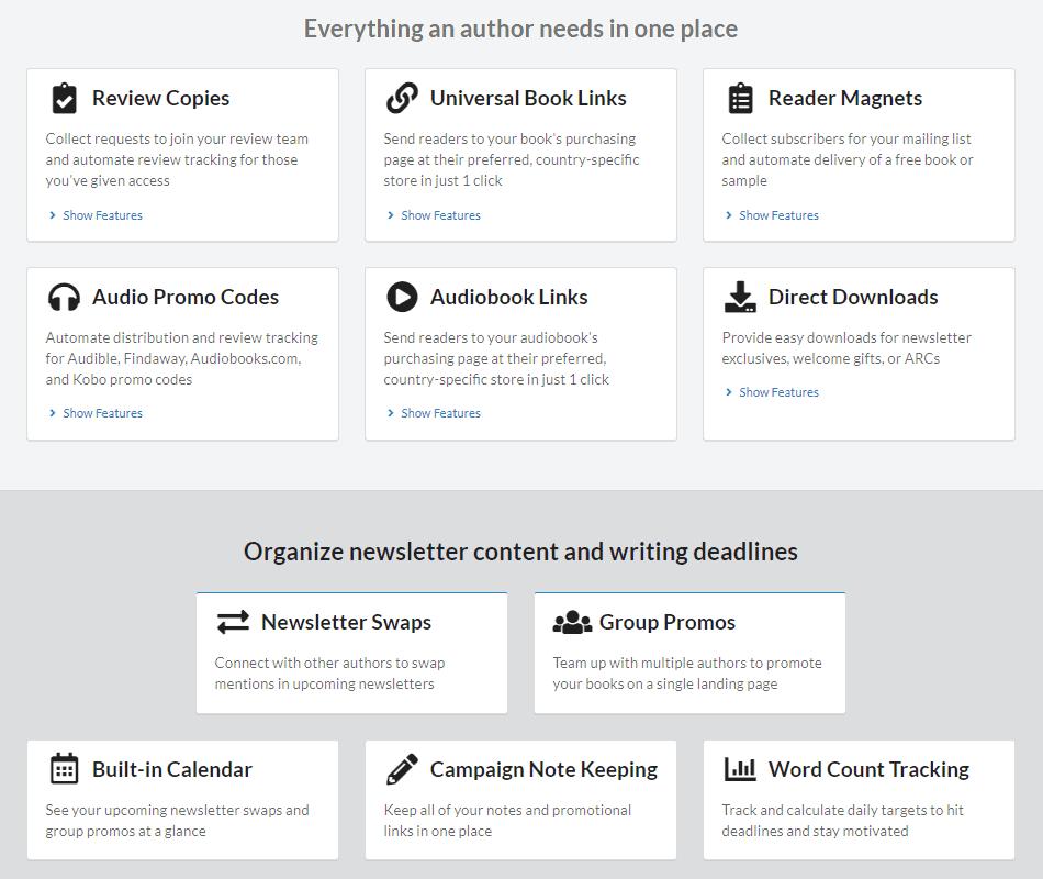 StoryOrigin - Features