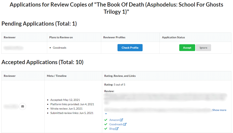 StoryOrigin - Review Copies Applications
