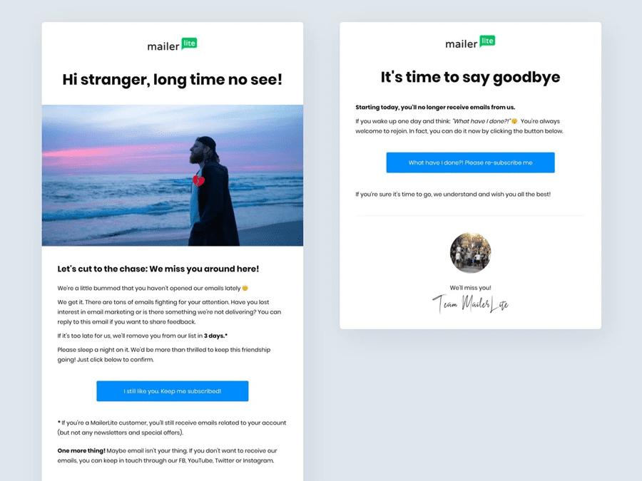 MailerLite - Win-Back Re-Engagement Inactive Subscribers
