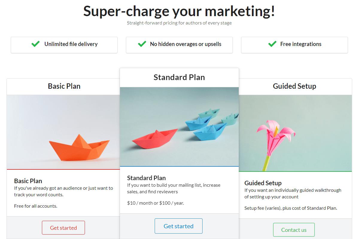 StoryOrigin - Pricing Plans