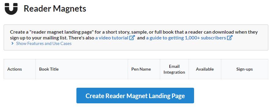 StoryOrigin - Reader Magnets